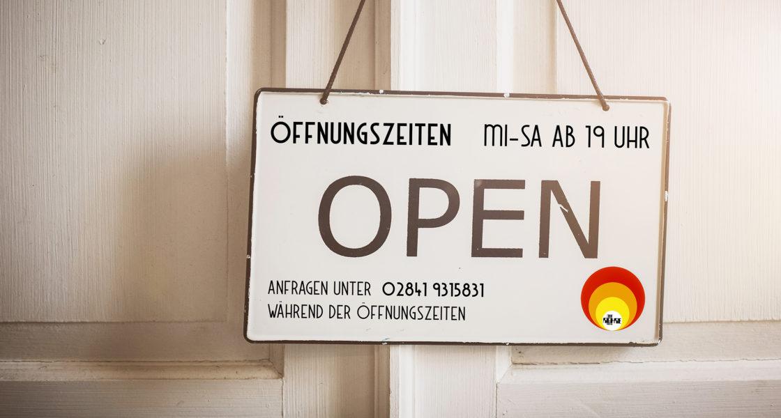 Aktuelle Öffnungszeiten